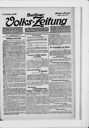 Berliner Volkszeitung vom 06.04.1913