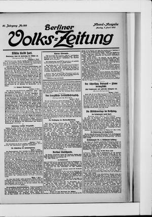 Berliner Volkszeitung vom 07.04.1913