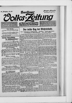 Berliner Volkszeitung vom 10.04.1913