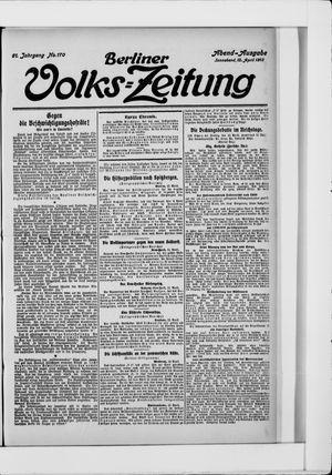Berliner Volkszeitung vom 12.04.1913