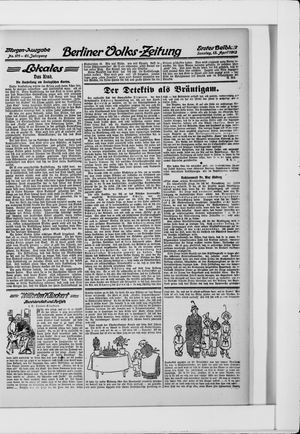 Berliner Volkszeitung vom 13.04.1913