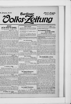 Berliner Volkszeitung vom 14.04.1913