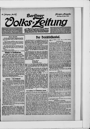Berliner Volkszeitung vom 15.04.1913