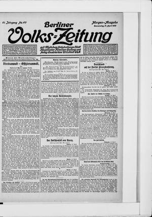 Berliner Volkszeitung vom 17.04.1913