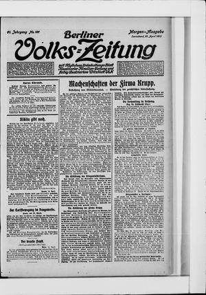 Berliner Volkszeitung vom 19.04.1913