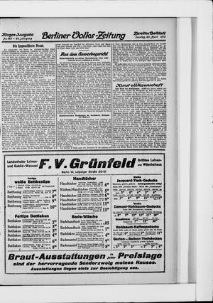 Berliner Volkszeitung vom 20.04.1913