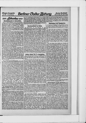 Berliner Volkszeitung vom 24.04.1913