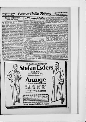 Berliner Volkszeitung vom 25.04.1913