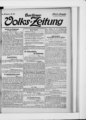 Berliner Volkszeitung vom 26.04.1913