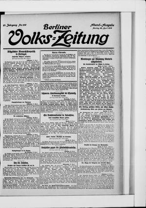 Berliner Volkszeitung vom 28.04.1913