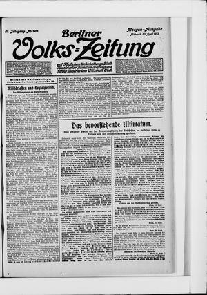 Berliner Volkszeitung vom 30.04.1913