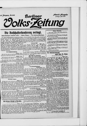 Berliner Volkszeitung vom 02.05.1913