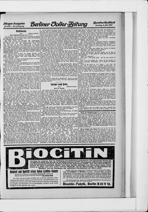 Berliner Volkszeitung vom 04.05.1913