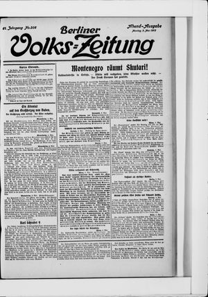 Berliner Volkszeitung vom 05.05.1913