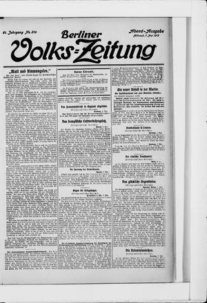 Berliner Volkszeitung on May 7, 1913