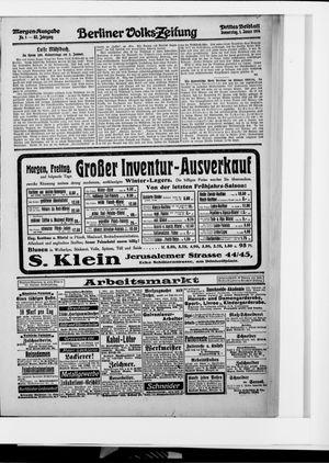 Berliner Volkszeitung vom 01.01.1914