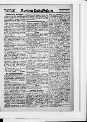 Berliner Volkszeitung vom 03.01.1914