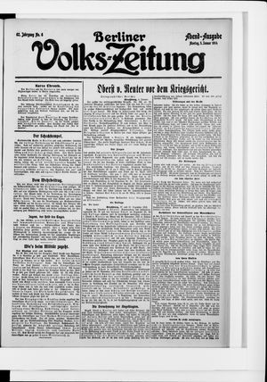 Berliner Volkszeitung vom 05.01.1914