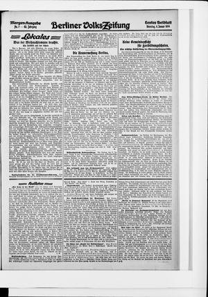 Berliner Volkszeitung vom 06.01.1914