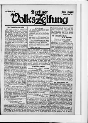 Berliner Volkszeitung vom 12.01.1914