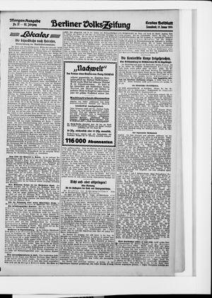 Berliner Volkszeitung vom 17.01.1914