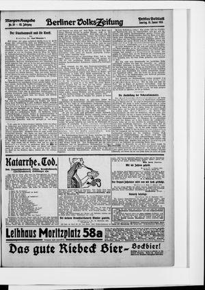 Berliner Volkszeitung vom 18.01.1914