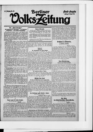 Berliner Volkszeitung vom 19.01.1914