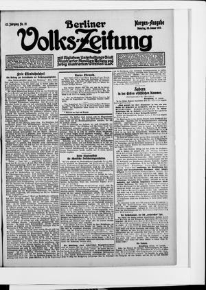 Berliner Volkszeitung vom 20.01.1914