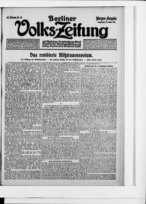 Berliner Volkszeitung vom 24.01.1914