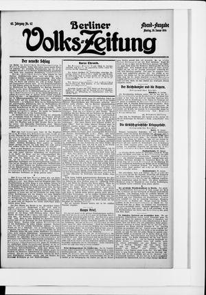 Berliner Volkszeitung vom 26.01.1914