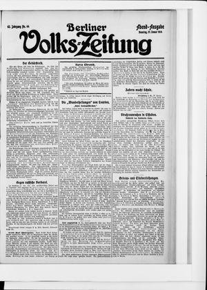 Berliner Volkszeitung vom 27.01.1914