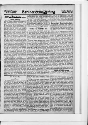 Berliner Volkszeitung vom 28.01.1914