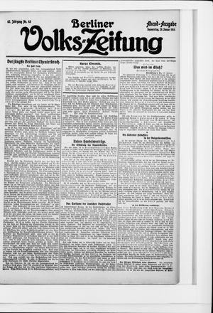 Berliner Volkszeitung on Jan 29, 1914