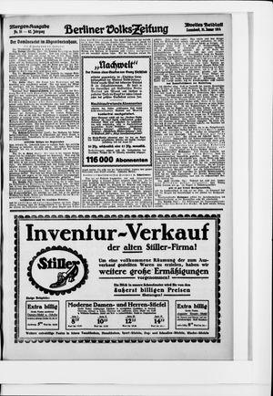 Berliner Volkszeitung vom 31.01.1914