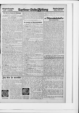 Berliner Volkszeitung vom 01.02.1914