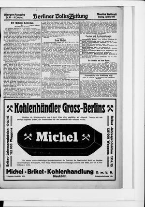 Berliner Volkszeitung vom 03.02.1914
