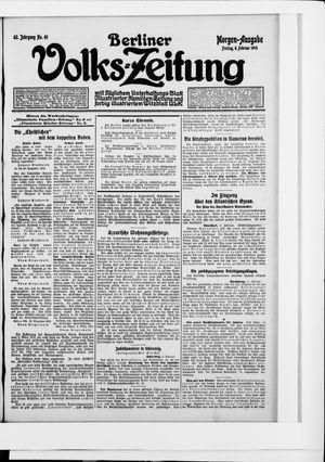 Berliner Volkszeitung vom 06.02.1914