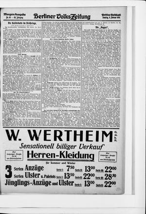 Berliner Volkszeitung vom 08.02.1914