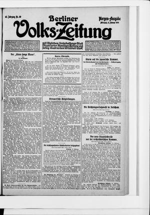 Berliner Volkszeitung vom 11.02.1914