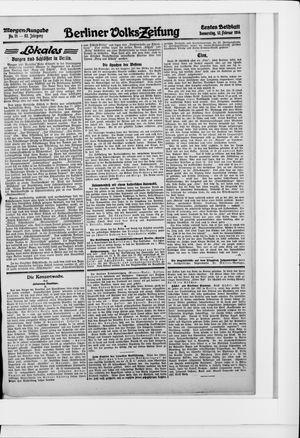 Berliner Volkszeitung vom 12.02.1914