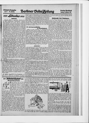 Berliner Volkszeitung vom 15.02.1914