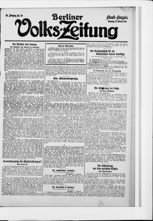 Berliner Volkszeitung vom 17.02.1914