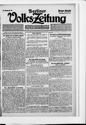 Berliner Volkszeitung vom 19.02.1914