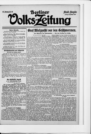 Berliner Volkszeitung vom 20.02.1914