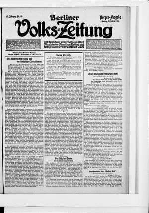 Berliner Volkszeitung vom 22.02.1914