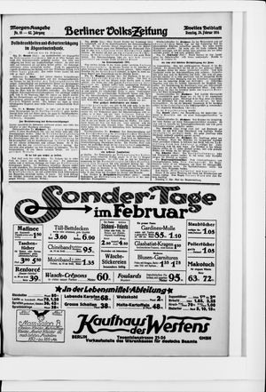 Berliner Volkszeitung vom 24.02.1914