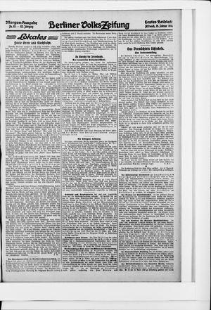 Berliner Volkszeitung vom 25.02.1914
