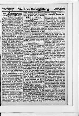 Berliner Volkszeitung vom 26.02.1914
