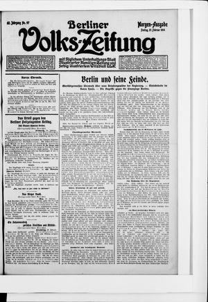 Berliner Volkszeitung vom 27.02.1914