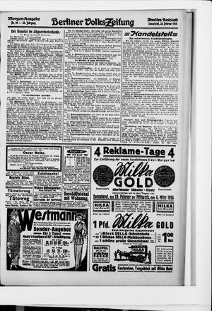 Berliner Volkszeitung vom 28.02.1914
